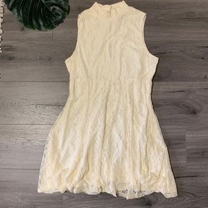 ASOS cream lace dress in size 12